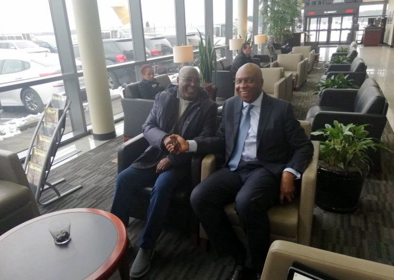 Atlast, Atiku lands ins US. 1