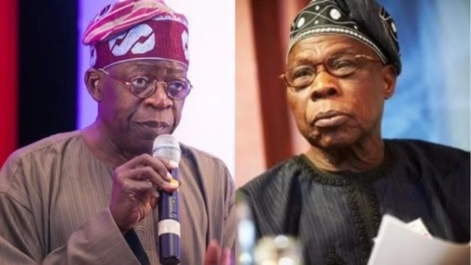 Tinubu calls Obasanjo Best Election 'rigger' and Reactions 12