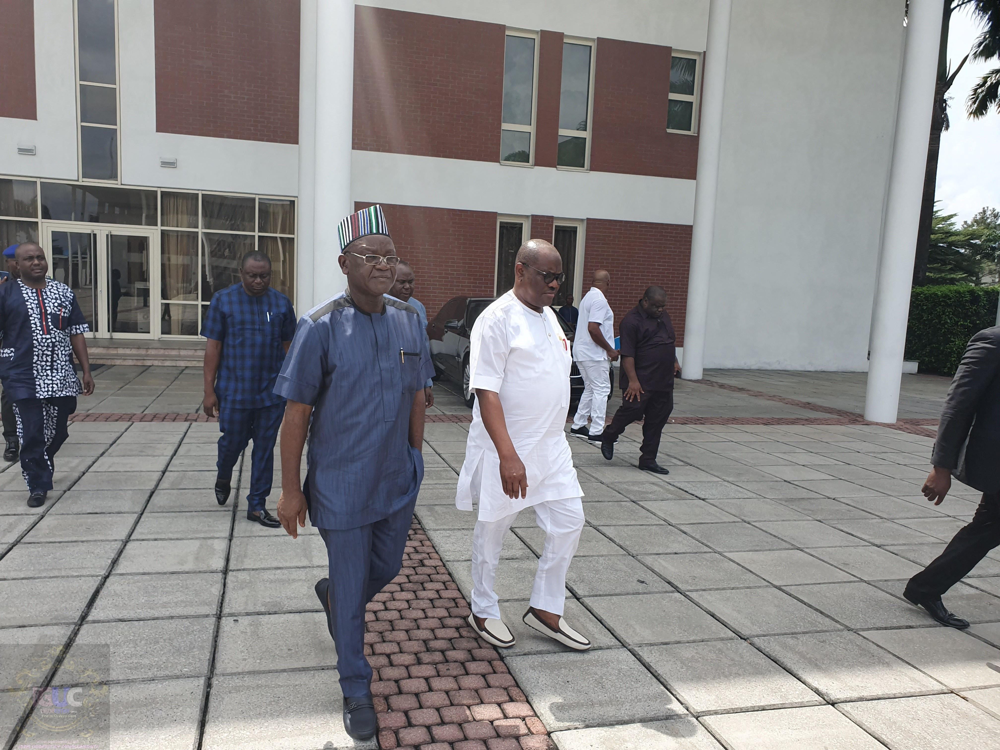 Ortom, Wike meet in Port Harcourt 6