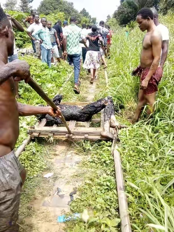Pipeline explosion in rivers