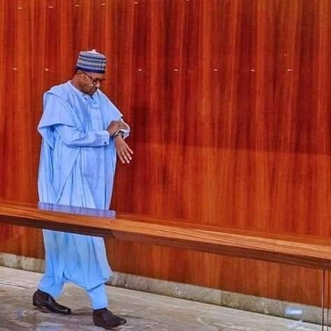 Buhari and Southwest monarchs meet in Aso Rock 1