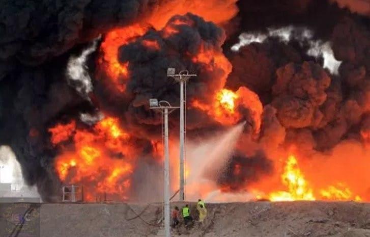 Pipeline explosion in ijegun