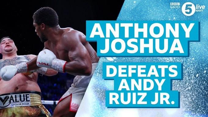 Anthony Joshua wins Ruiz