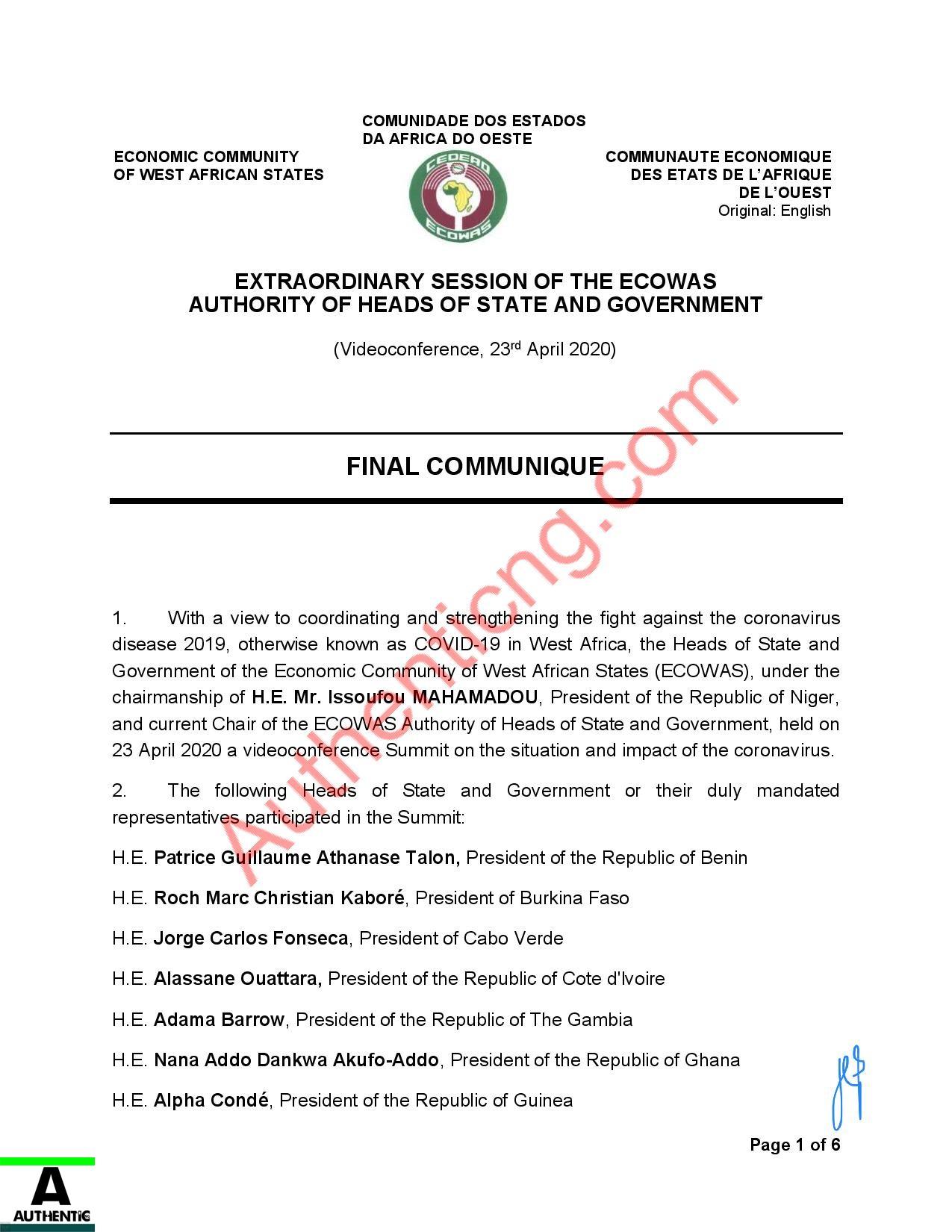 ECOWAS-Final-Communique