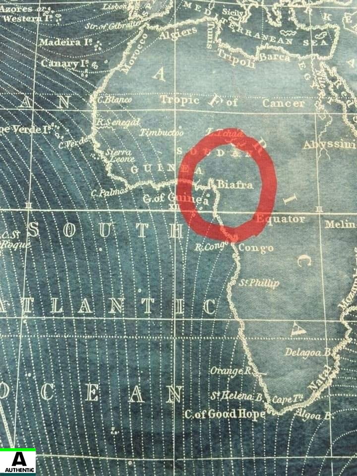 Ancient Map of Biafra