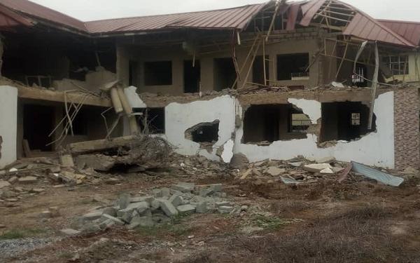 Armed men demolish Nigeria High Commission quarters in Ghana