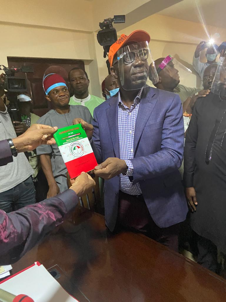 Godwin Obaseki officially joins PDP