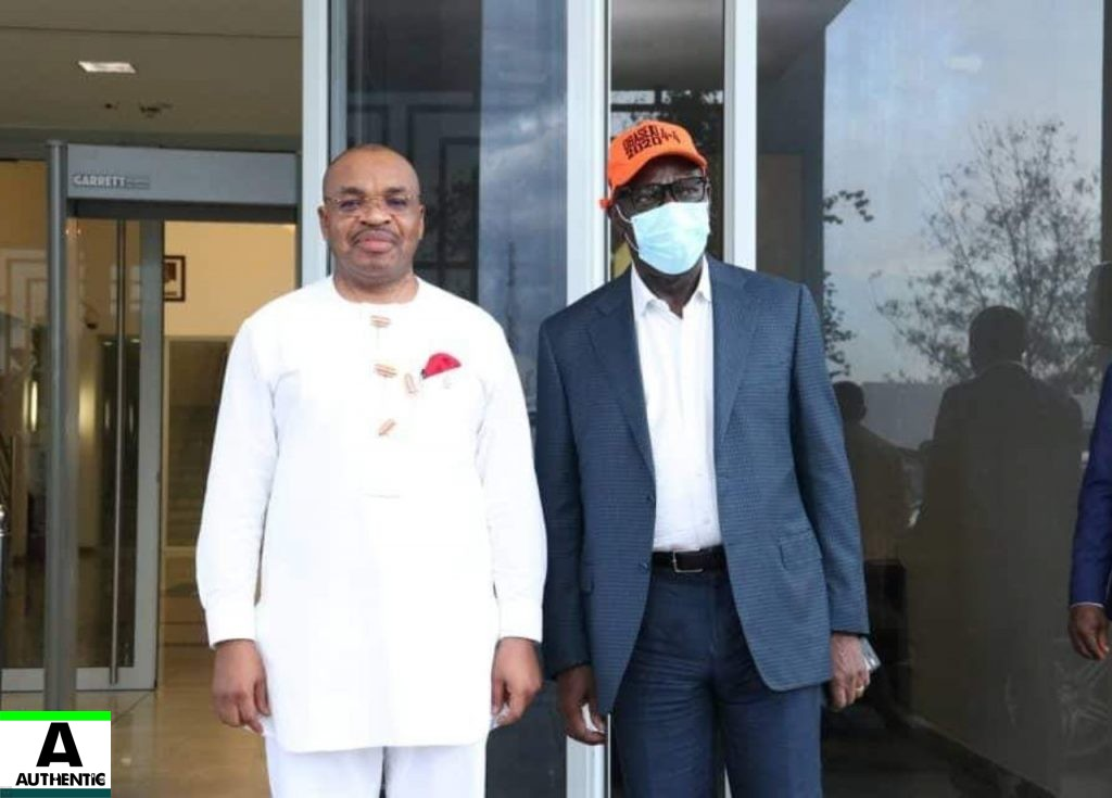 Godwin Obaseki meets Udom Emmanuel over his Disqualification and Move to PDP