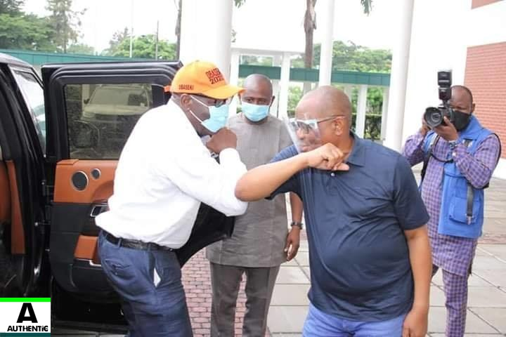 Godwin Obaseki meets Nyesom Wike over his Disqualification and Move to PDP