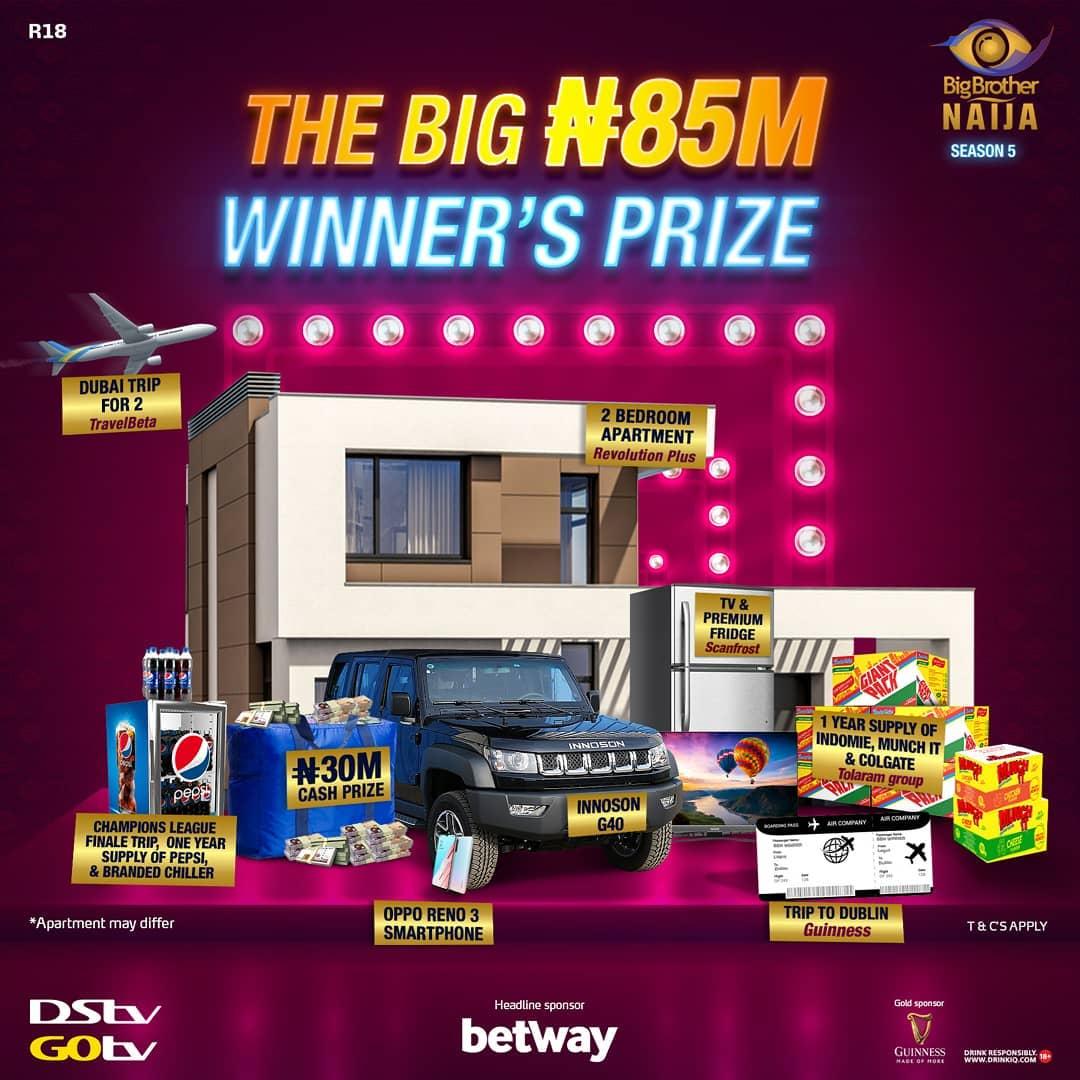 MultiChoice reveals N85m grand prize for BBNaija winner
