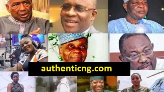 12 notable Nigerians Who Died In July 2020