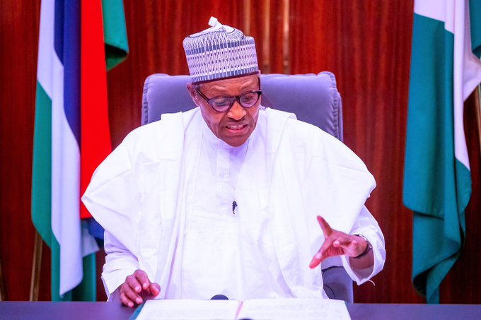Buhari reacts to nationwide looting, destruction of property, quit notice on Igbos