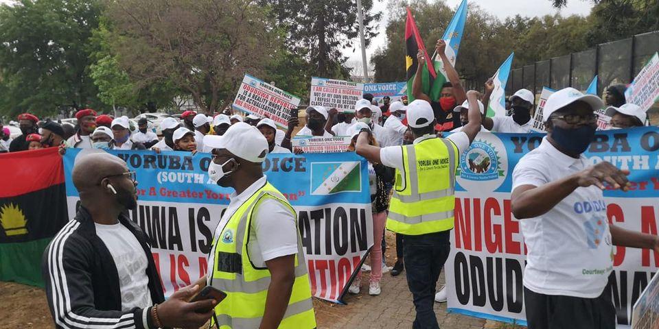 Femi Fani-Kayode Reacts As Oduduwa And IPOB Members Protest