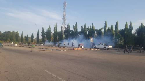 VIDEOS: Police Shoot Tear Gas into Protesters in National Assembly Complex, Many Arrested