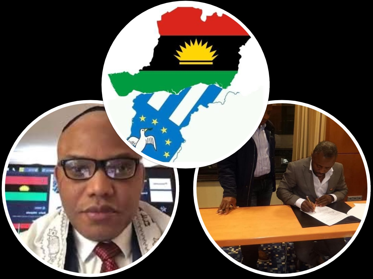 Nnamdi Kanu happy as IPOB signs Treaty with Government of Ambazonia