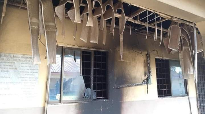 "Unknown hoodlums in the early hours of Thursday, burnt down parts of Isiala Ngwa South Local Government Area Headquarters in Abia State. This was disclosed by the Abia State Government and was contained in a release signed by Barrister Chris Ezem, the Secretary to the State Government, SSG, and made available to newsmen in Umuahia. The State Government has consequently directed law enforcement agents to investigate, apprehend and diligently prosecute all those behind the dastardly act. It, however, condemned in its entirety such act of wanton destruction of public property, vowing that it will leave no stone unturned in bringing those behind such an act to book. According to the release, ""Government's attention has been drawn to the unfortunate burning of parts of Isiala Ngwa South Local Government Area Headquarters in the early hours of this morning by unknown arsonists. ""It is pertinent to state that Government does not wish to expend public fund in rebuilding the burnt facility so as to serve as a stark reminder to those behind the arson of their folly"". Continuing, the Abia Government added, ""Let it be stated clearly that if the intention of the arsonists was to hinder or stop today's PDP LGA Chairmanship primary, they have failed abysmally as the primary will go ahead as scheduled. Government will not give in to the antics of destructive elements. NEWS: Abba Moro reacts as people mysteriously die in Benue community ""For the avoidance of doubt, Government wishes to state that no other development will be carried out in the affected LGA until the structure is restored. It, therefore, becomes the responsibility of all citizens particularly those of Isiala Ngwa South LGA to cooperate with law enforcement agents in their efforts to unravel the identity of those behind the unfortunate act"". Meanwhile, as at the time of filing this report, the Police Public Relations Officer, PPRO, Abia State Command, SP Joeffrey Ogbonna could not be reached for comment over the ugly scenario."