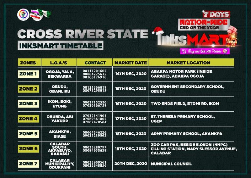 Cross River Inksnation Market Locations