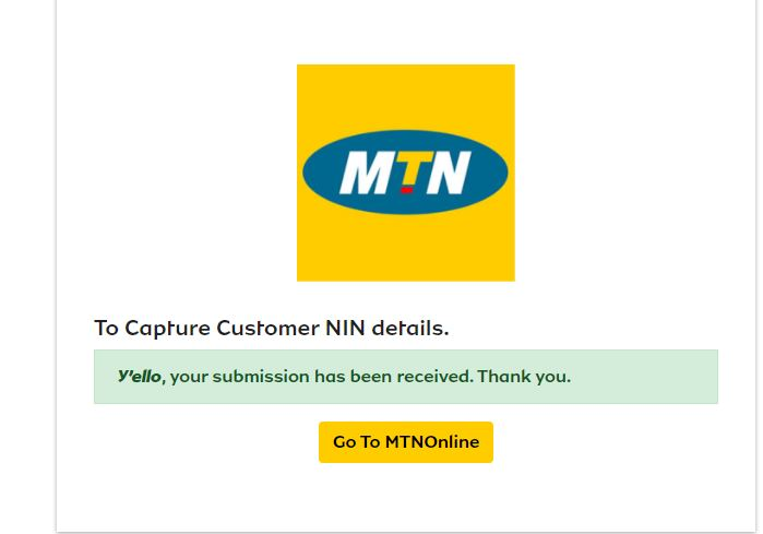 How to Link your NIN With MTN