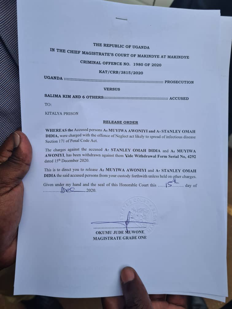 Ugandan Court orders Release of Omah lay, Tems, others