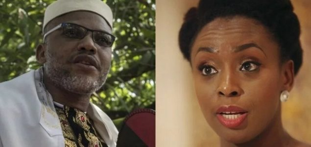 Biafra: Chimamanda Adichie education is a waste -Nnamdi Kanu
