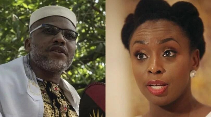 Biafra: Chimamanda Adichie education is a waste -Nnamdi Kanu