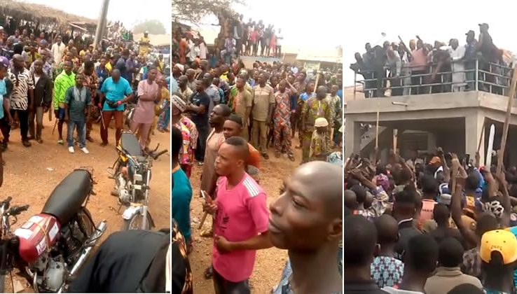 Fulanis on the run as Sunday Igboho, supporters chase them from Igangan in Oyo [Video]