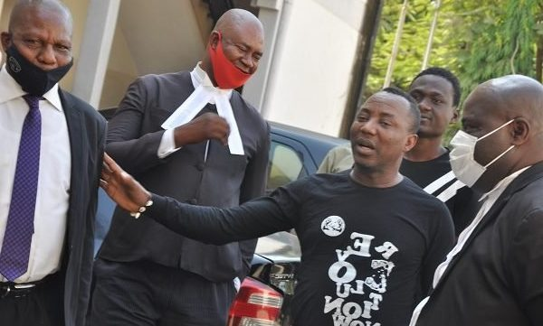 Omoyele Sowore lands in Kuje Prison again with Four others