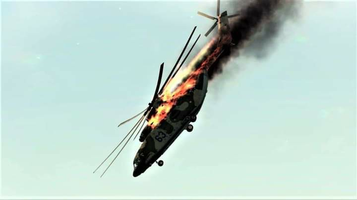 Eastern Security Network Shoots down Nigeria Airfoce Helicopter in Orlu