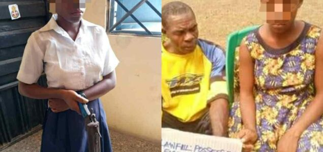 Police Parade Cross River Schoolgirl Caught With Gun And Her Manfriend