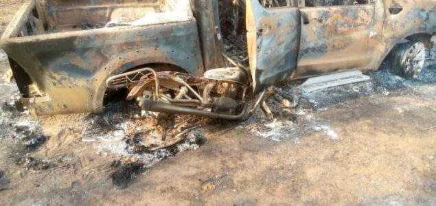 Terrorists Herdsmen kill two, set Amotekun vehicle ablaze in Ondo