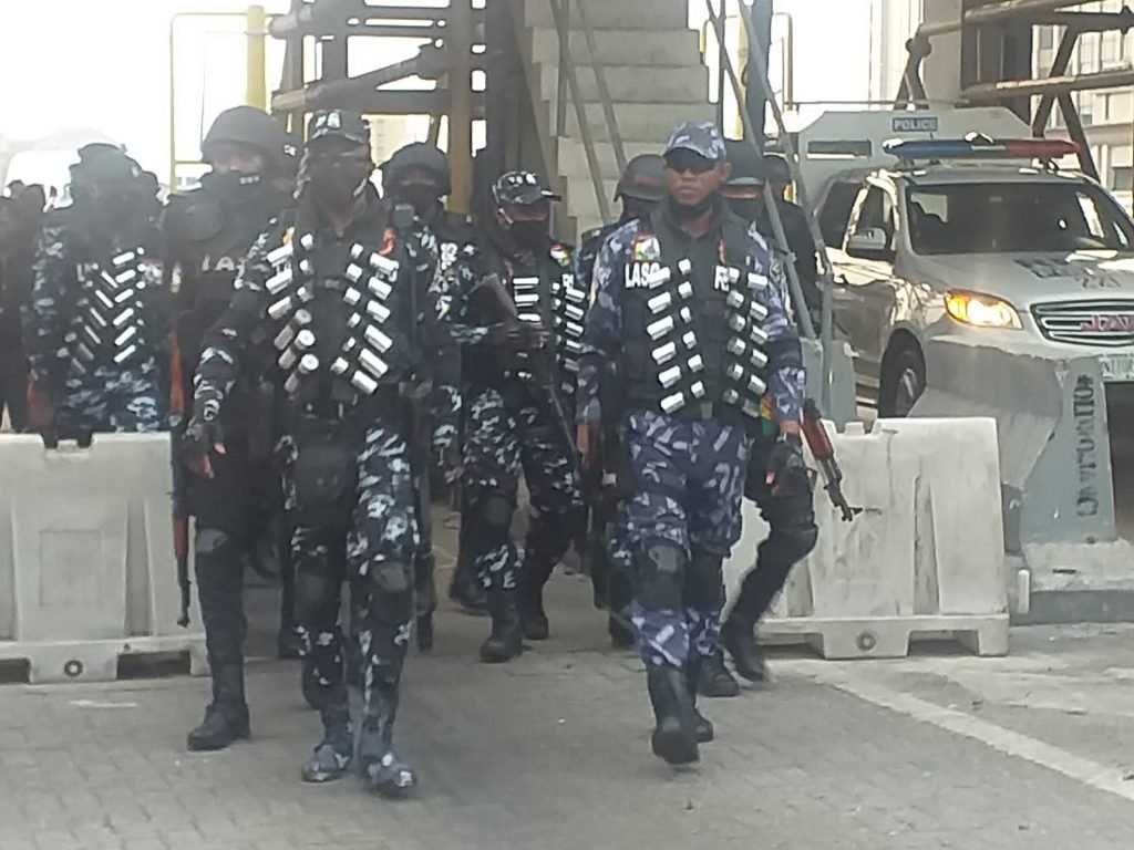 PHOTOS: Dozens of Peaceful Protesters Arrested in Lekki Toll Gate Nigeria