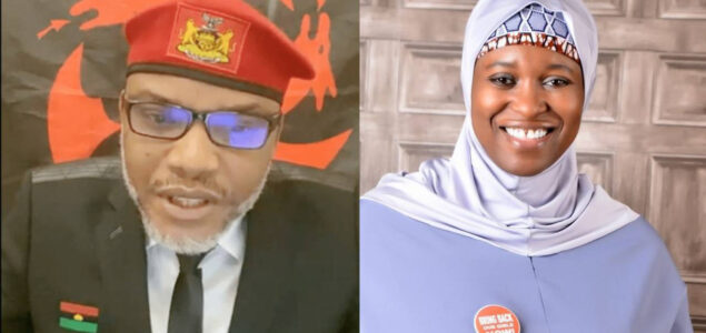 Aisha Yesufu replies Nnamdi Kanu, Calls him 'made in China Shekau'