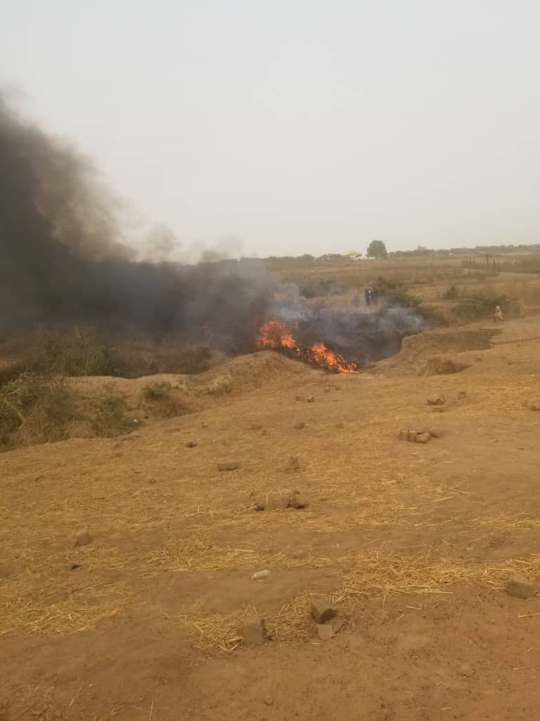 VIDEO: Nigerian Military Crashes, Six persons Killed