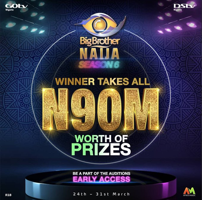 Big Brother Naija Season 6 Winner to go home with N90 million
