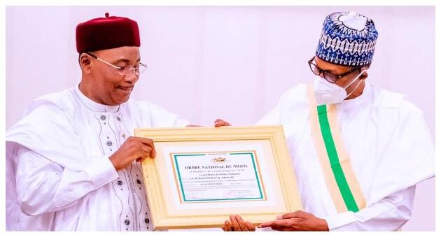 Niger Republic confers on Buhari of Nigeria highest Honour