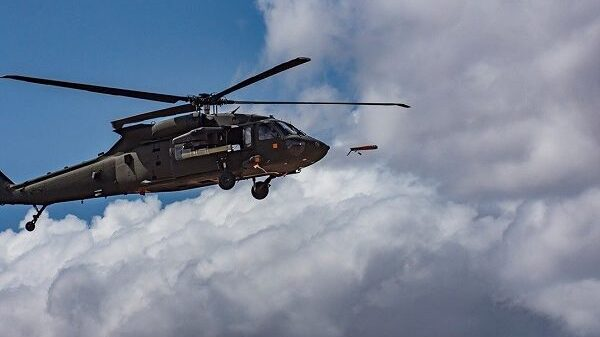 Helicopters dropping weapons, food for bandits