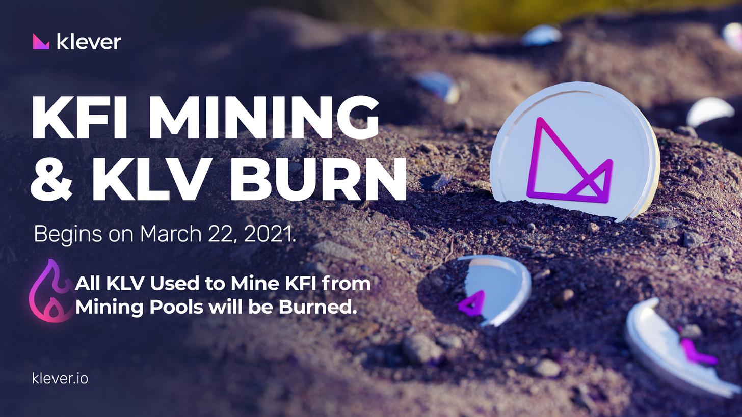 How to Mine Klever Finance Token KFI - the Klever KLV Blockchain governance token