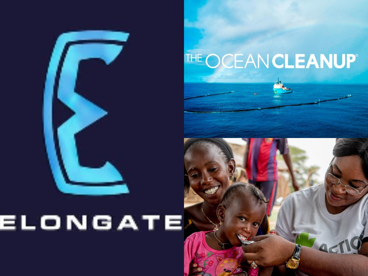 Elongate Crypto Donates $245k to Action Against Hunger and $245k to Ocean Clean Up, others