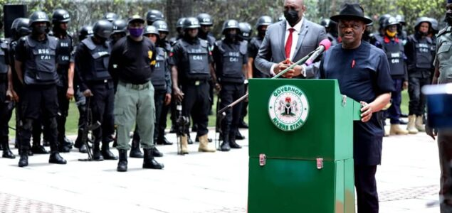 """Nyesom Wike Launches Security Outfit """"C4I"""" with 600 Personnel"""