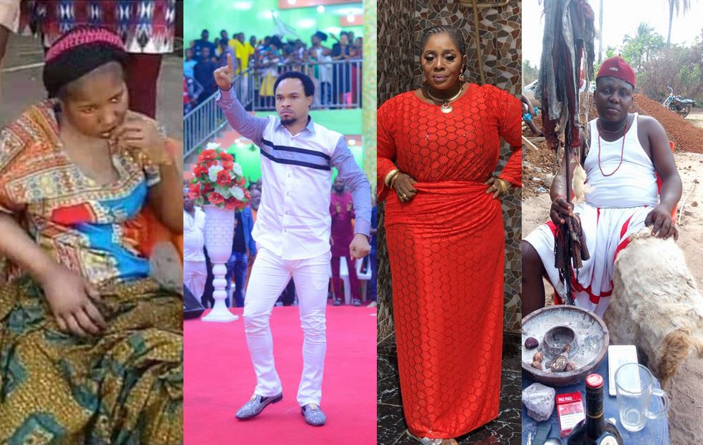 Popular native doctor, Chi Marine forgives seriously sick Ada Jesus as Prophet Odumeje and Rita Edochie refuse to forgive her in church