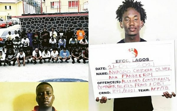EFCC arrests Instagram celebrity, Pankeeroy, 34 others