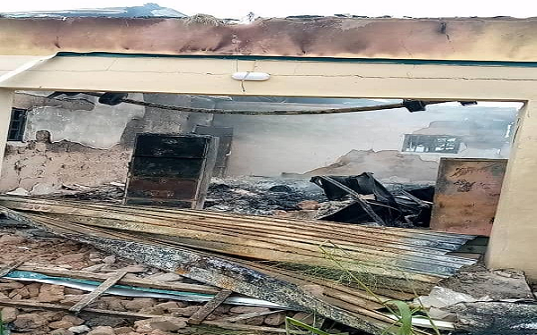 Hoodlums raze another INEC office