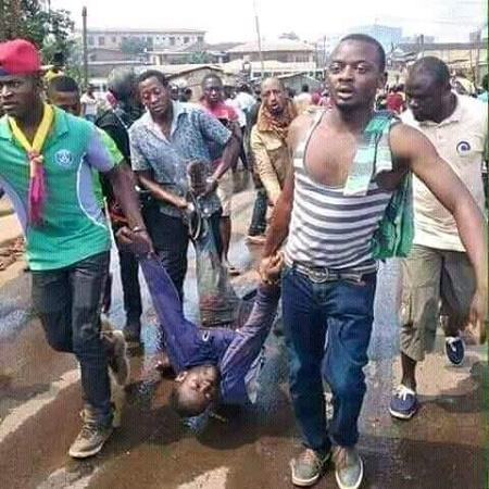 In Port Harcourt 11 were confirmed dead, many others have bullet wounds while the group were organizing pro- Trump rally.