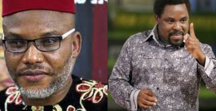 Nnamdi Kanu shreds TB Joshua Over Anti-Biafra, Oduduwa Comment, Says He know no Bible