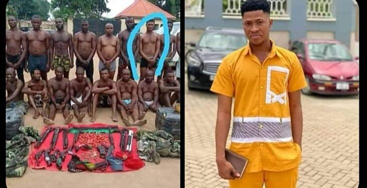 Police Parade Elvis Okafor Arrested While Buying Food For Sick Mum As ESN Member